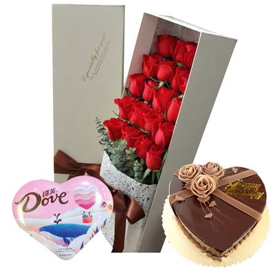 爱的季节(鲜花+巧克力+蛋糕) 8寸蛋糕
