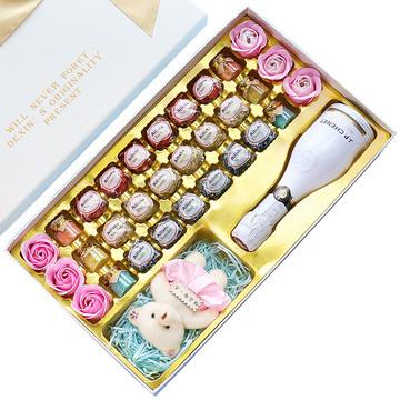 巧克力礼盒 白色礼盒装