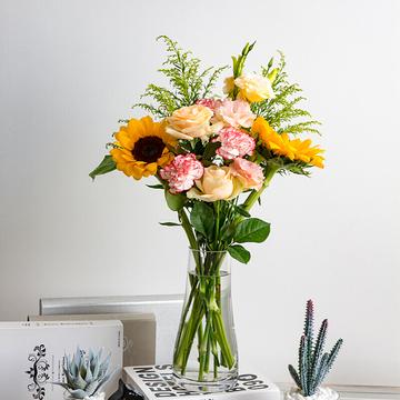 包月鲜花共4束C款(送花瓶)