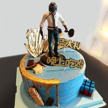 绝地求生生日蛋糕A款 10寸