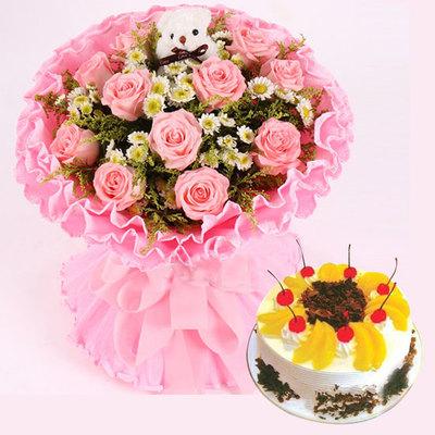 爱永久组合 12寸蛋糕