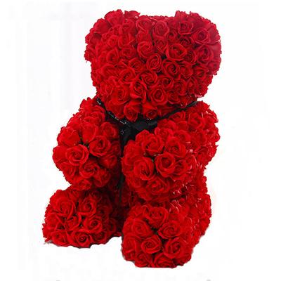 玫瑰花熊(提前三天预定) 高35cm*宽29cm*29cm