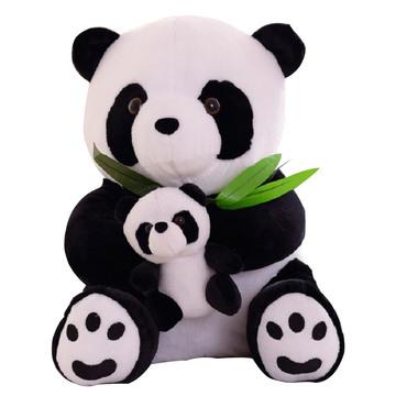 熊猫吃竹 40cm