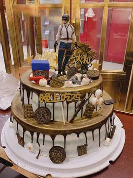 绝地求生生日蛋糕(双层)B款 10寸下6寸上