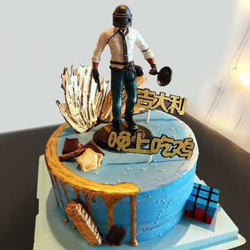 绝地求生生日蛋糕A款 12寸