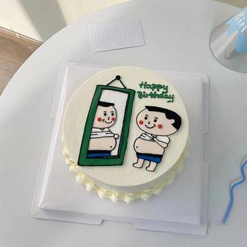 趣味手绘蛋糕 12寸