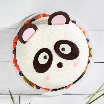 卡通熊猫奶油蛋糕 12寸