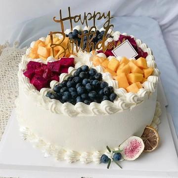 缤纷水果奶油蛋糕 10寸